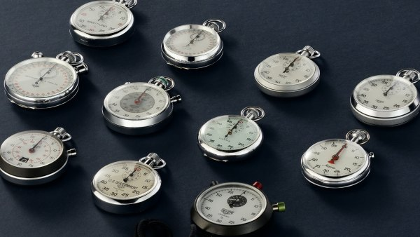 Tracksmith x Wind Vintage Collection stopwatches