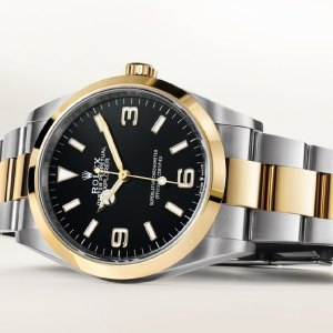 Two-tone watches article: a picture of a Rolex two-tone watch.