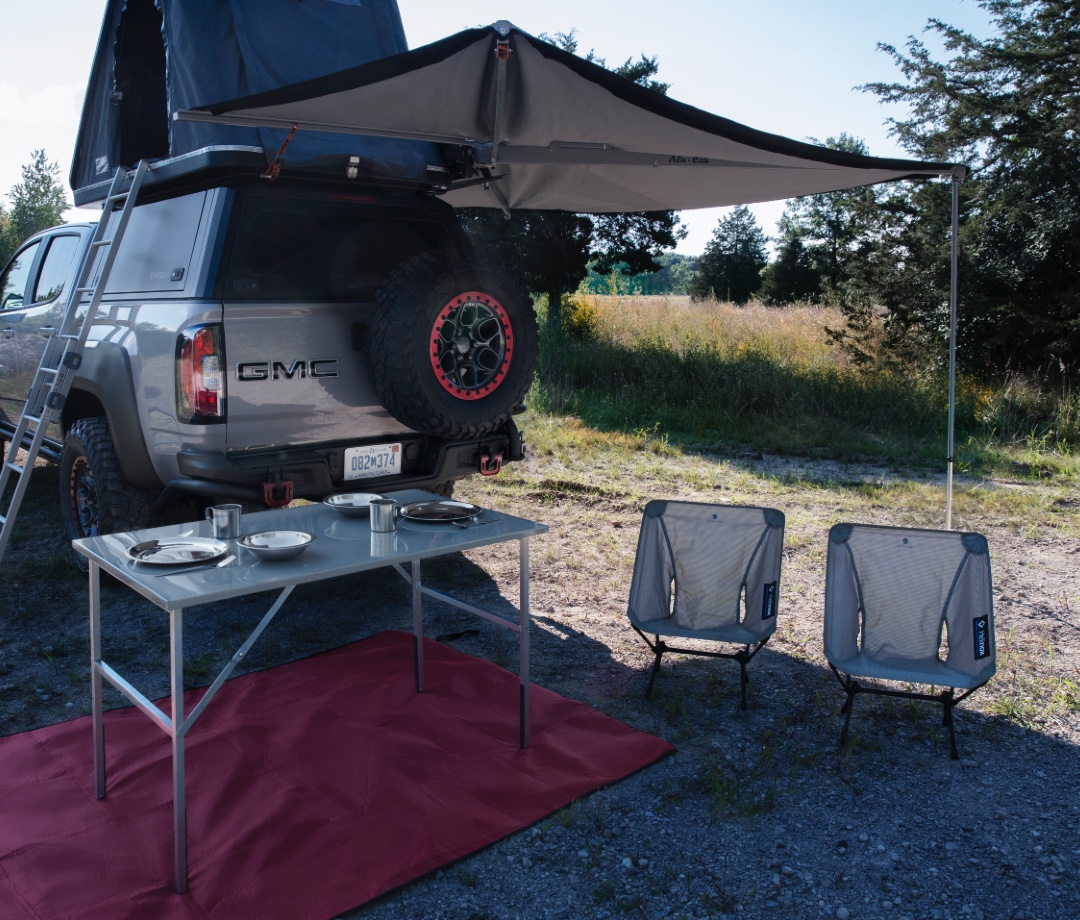 GMC's new overlanding concept is a burlier, more versatile version of the GMC Canyon pickup truck.