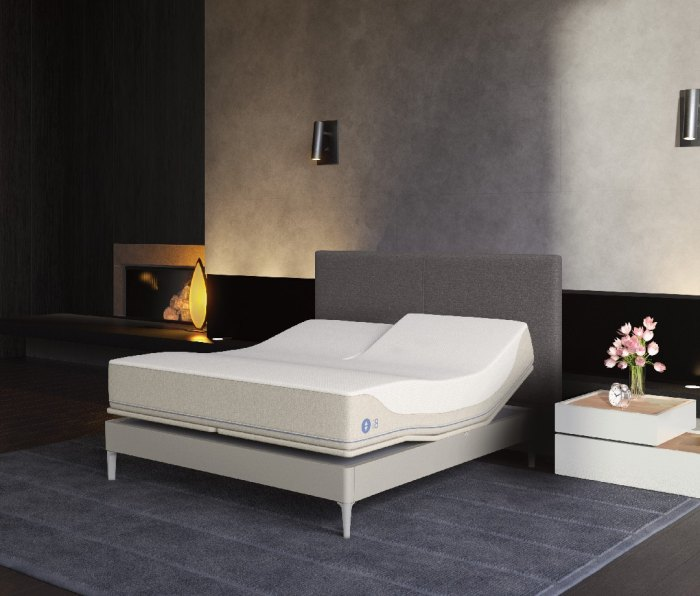An image of a Sleep Number 360 i8 Smart Bed in a bedroom.