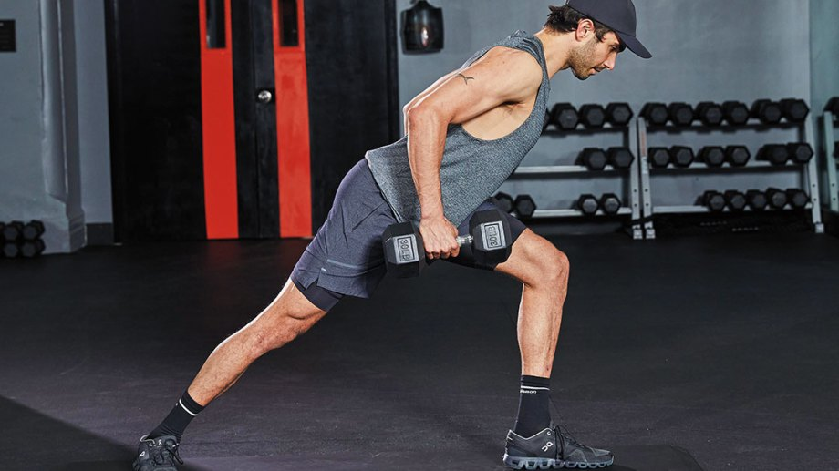 Side Lunge Pivot Reach With Row