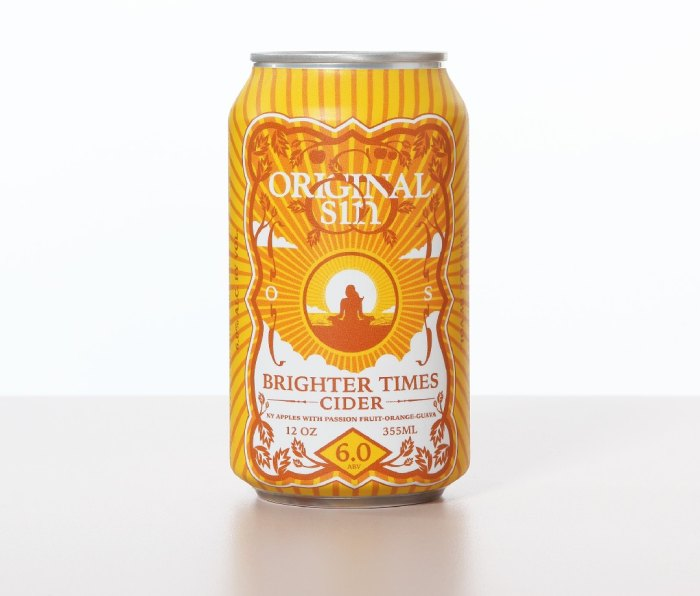 Can of Original Sin Brighter Times cider