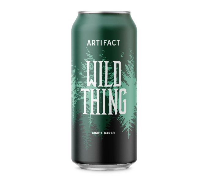 One tall can of Artifact Cider Project Wild Thing