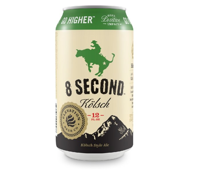 12 oz can of Elevation 8 Second Kolsch beer