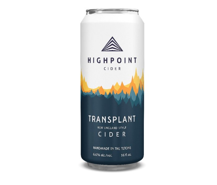Tall can of Highpoint Cider Transplant