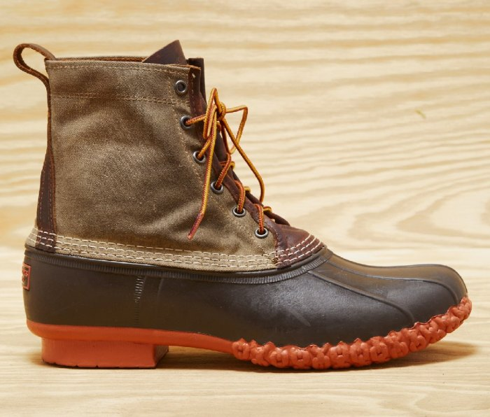 L.L.BEAN X TODD SNYDER Waxed Canvas Bean Boots In Olive