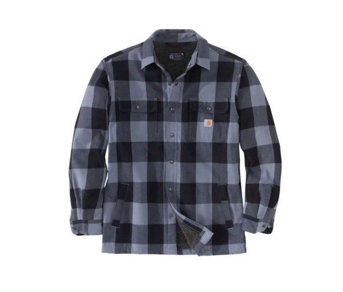 Carhartt Heavyweight Relaxed Fit Flannel Sherpa-Lined Shirt Jac