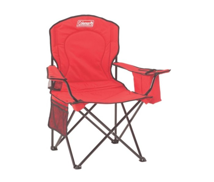 tailgate Coleman Camping Chair With Built-In Four-Can Cooler