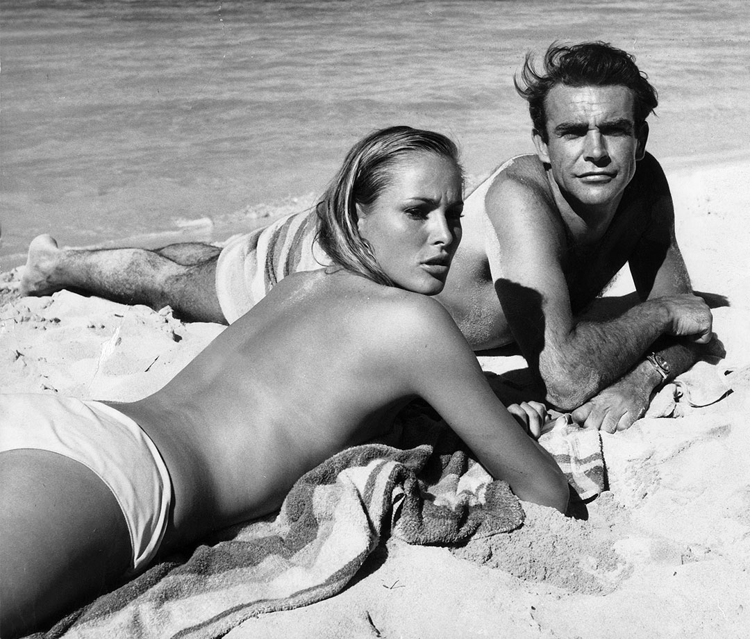 Ursula Andress and Sean Connery in 'Dr. No'