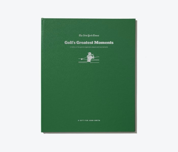 Golf's Greatest Moments, a book published by The New York Times