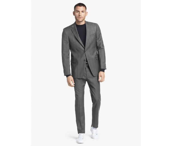 Tommy Hilfiger—Essential Regular Fit Charcoal Check Suit