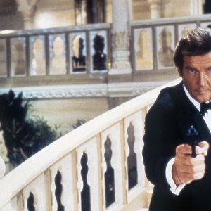 Roger Moore as the fictional MI6 agent James Bond in 1983's 'Octopussy.'
