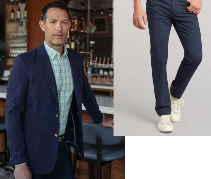 Faherty Reserve Knit Summer Blazer and Movement 5-Pocket Pant