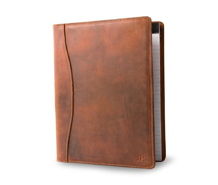 Pegai Marshall Leather Padfolio brown leather notebook holder