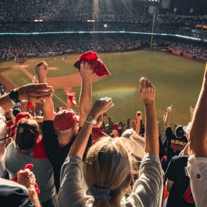 best sports gifts and sports fans at a baseball stadium