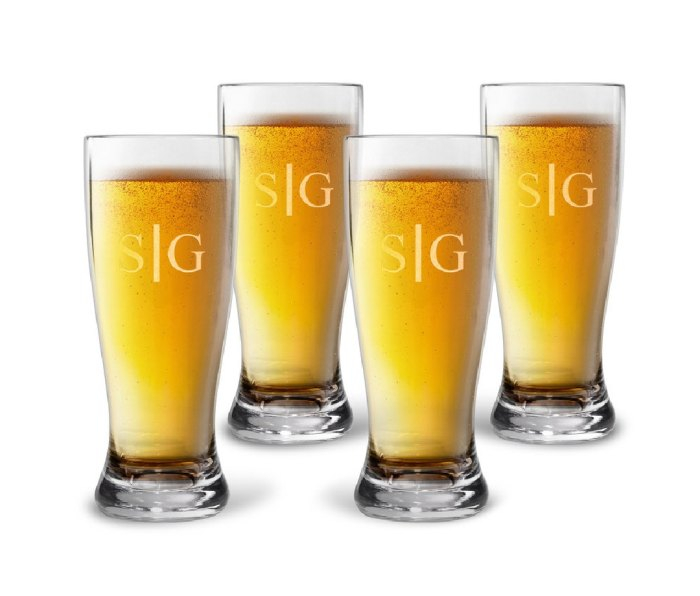 The Stationery Studio Personalized Tritan Acrylic Pilsner Set with Duogram