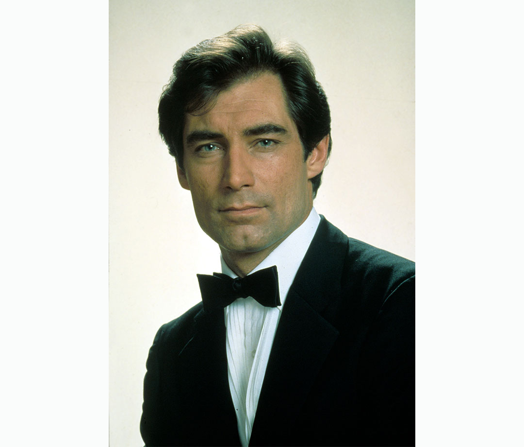 Portrait of Timothy Dalton as James Bond in 'The Living Daylights'
