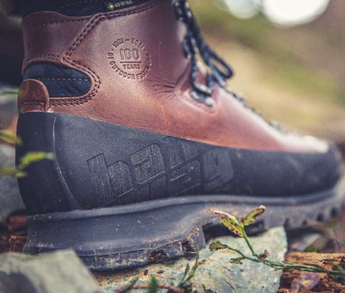 Rugged leather hiking boot