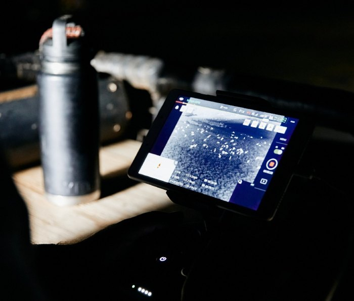 Infrared technology locating deer