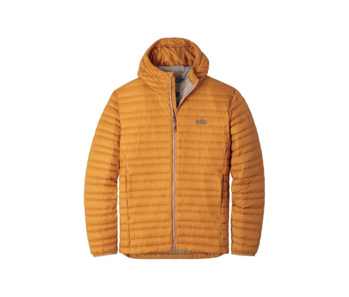 Pinion Hooded Jacket in bourbon