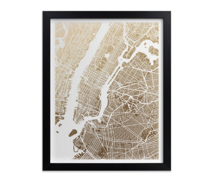 minted. Completely Custom Foil Map