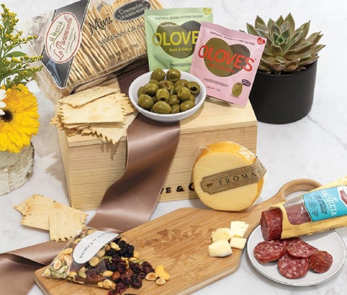 Olive & Cocoa Meadow Serving Board & Snacks