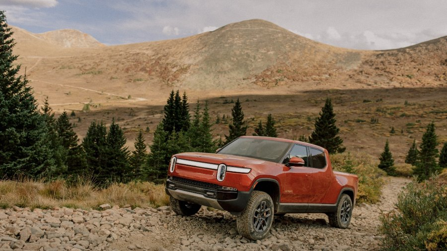 Driving the Rivian R1T, an electric adventure vehicle that conquers off-road terrain and rips on the road.