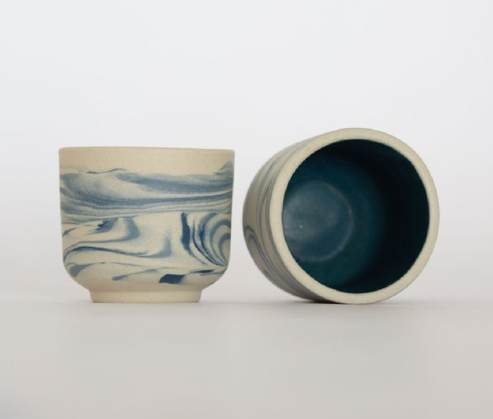 The Nopo. Handmade Mexican Marbled Espresso Cups