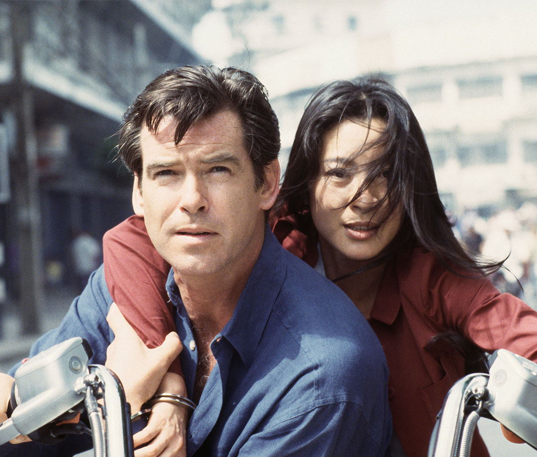 Pierce Brosnan and Malaysian actress Michelle Yeoh in 'Tomorrow Never Dies'