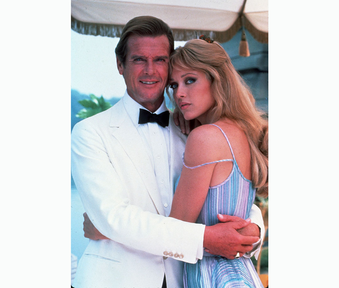 Roger Moore and Tanya Roberts in 'A View to a Kill'
