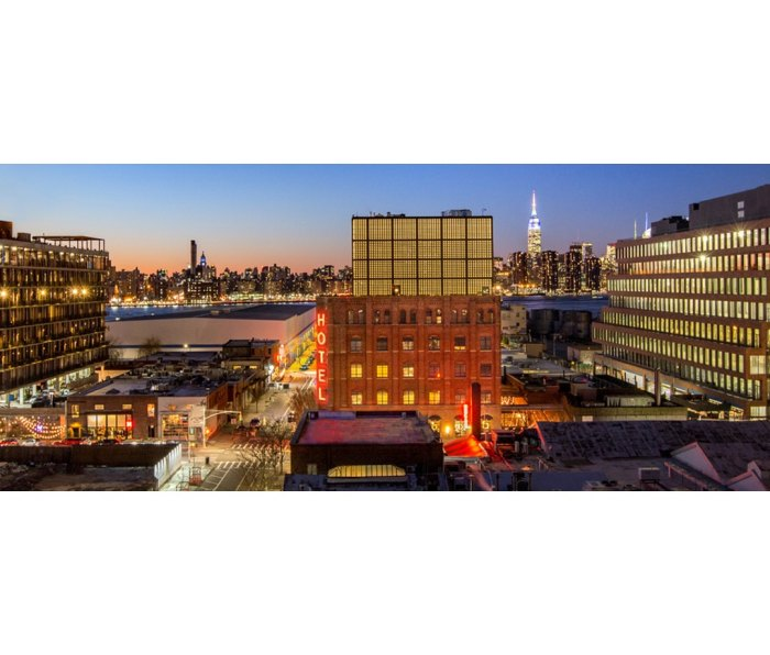 Outside view of the Wythe Hotel