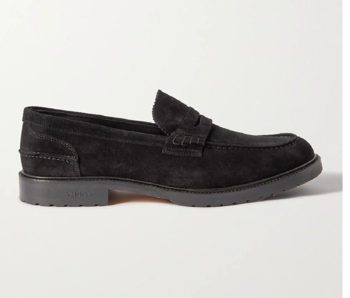 VINNY'S Grand Townee Suede Penny Loafer