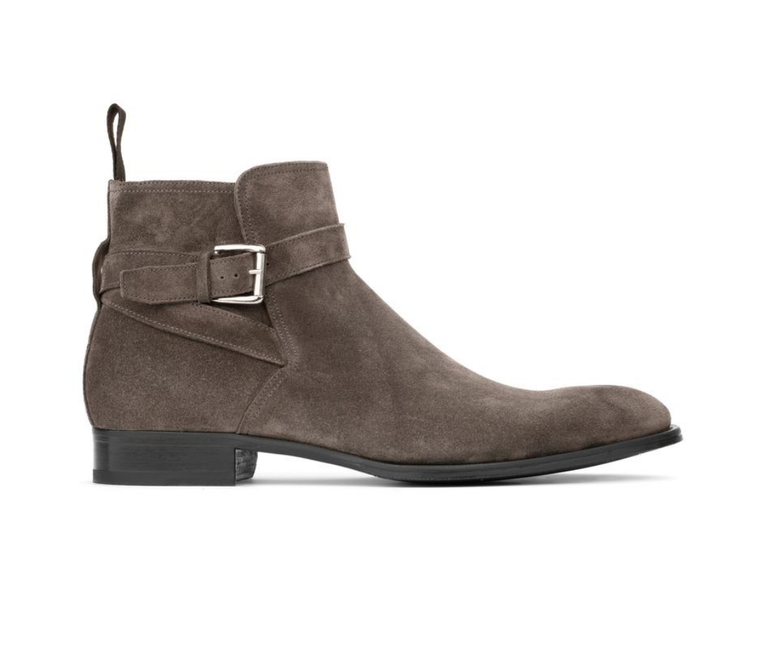 To Boot New York Clarence Grey Suede men's boots