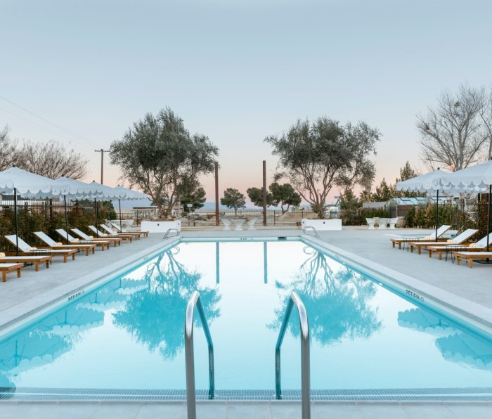 The pool at the Cuyama Buckhorn hotel