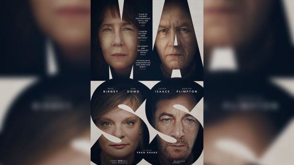 'Mass' promotional movie poster with actors faces in letters