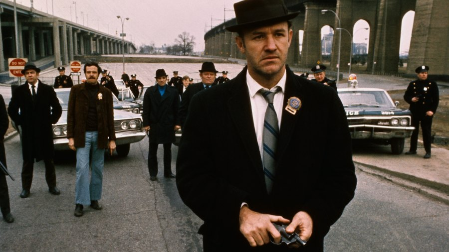 Hackman as the iconic Popeye Doyle in The French Connection.