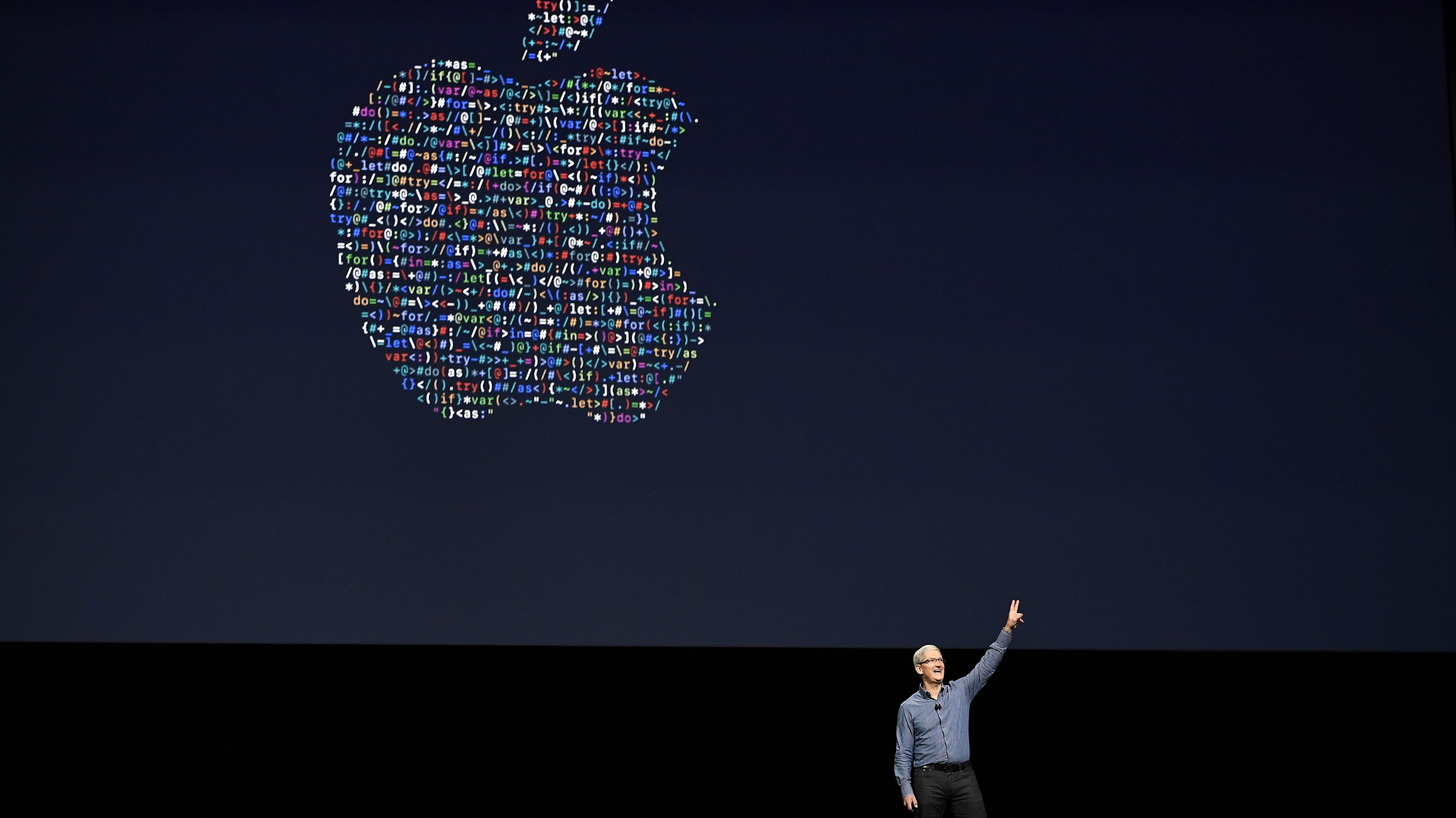 pple CEO Tim Cook waves good bye after speaking at an Apple event at the Worldwide Developer's Conference on June 13, 2016 in San Francisco, California. Thousands of people have shown up to hear about Apple's latest updates.