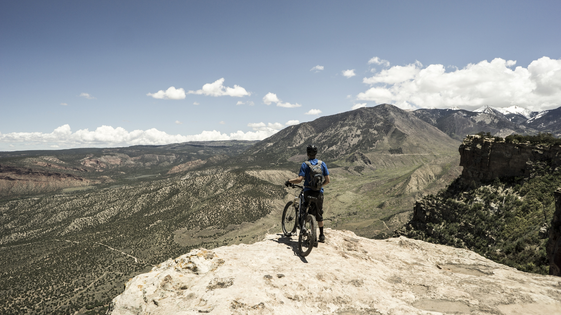 mountain bike in wilderness