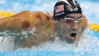 Michael Phelps of United States competes in the semi final of the Men's 200m Butterfly on Day 3 of the Rio 2016 Olympic Games at the Olympic Aquatics Stadium on August 8, 2016