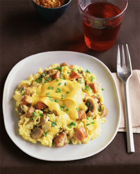 5. Vegetable-Egg Scramble with Fontina Cheese