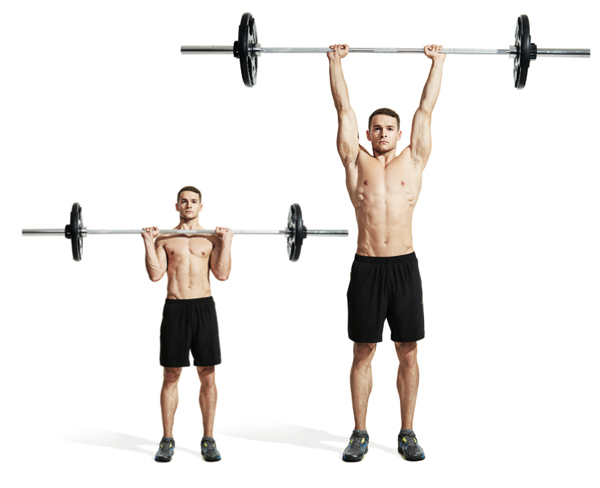 1 Barbell Overhead Press