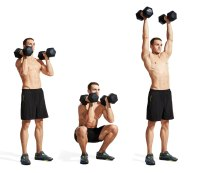 11. FRONT SQUAT TO PRESS