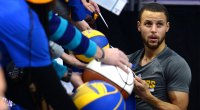 Steph Curry Signing Autographs