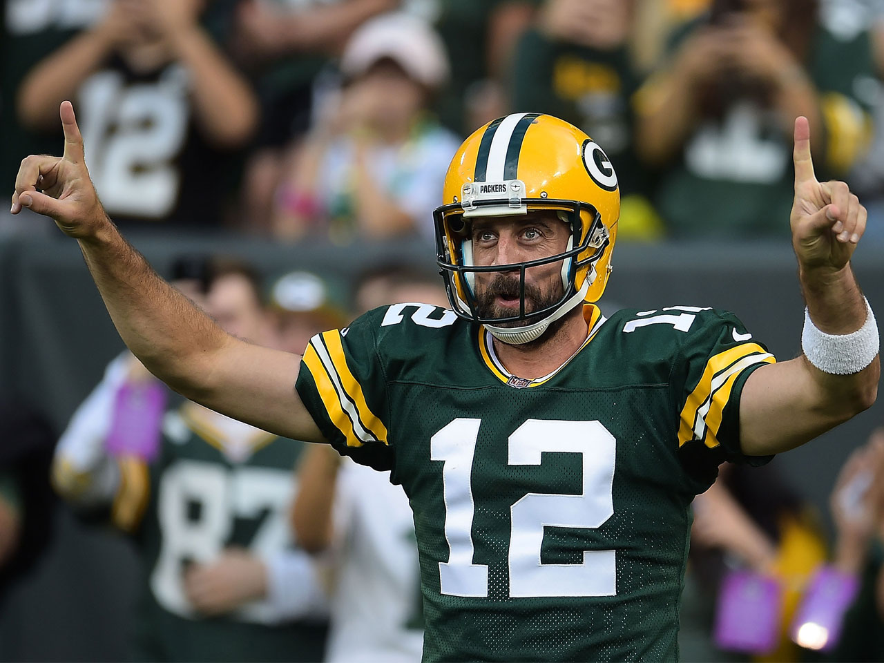 Aaron Rodgers Mustache Is In A League Of Its Own