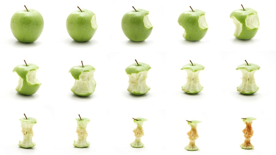 Stages of Eating an Apple