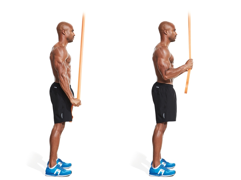 Triceps extensions.