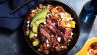Quinoa Bowl Steak Butternut Squash Avocado