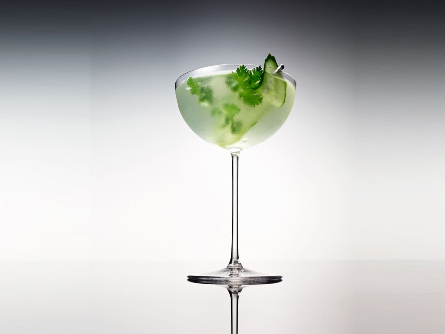 Salt and Sea Lime and Cucumber Cocktail