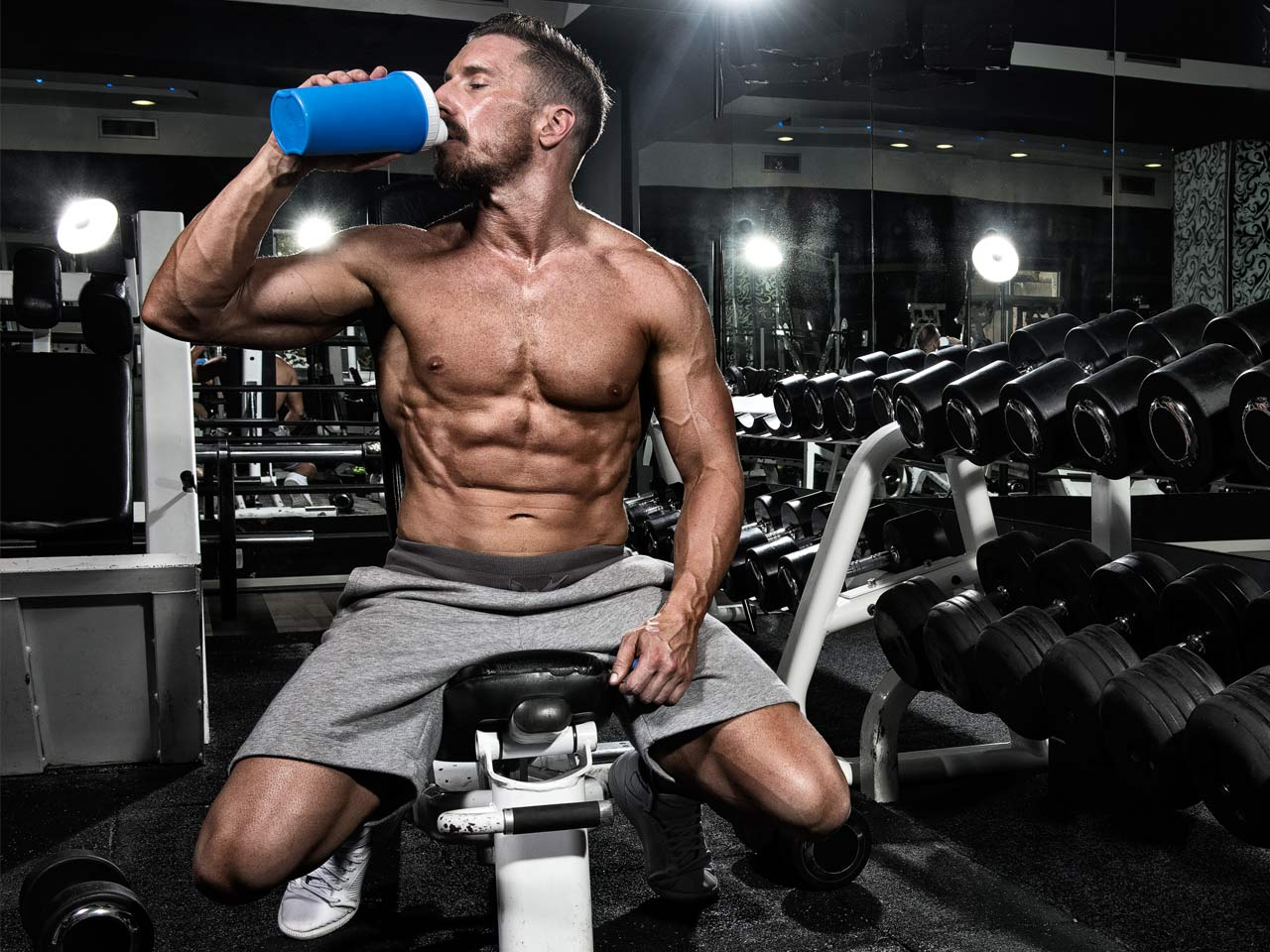 how to build muscle with dumbbells fast