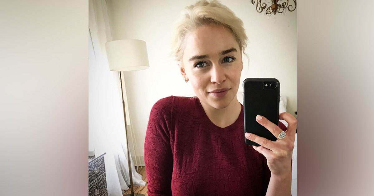 Emilia Clarke Goes Blonde Before Final Game Of Thrones